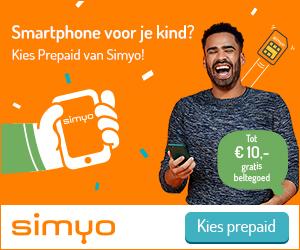 prepaid voor kinderen bij Simyo
